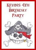 Pirate Birthday Crayon Box Labels Party Favors