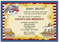 Pirate Birthday Party Invitations