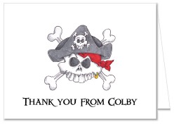 Pirate Thank You Note Cards Personalized