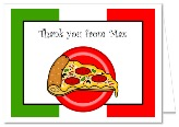 Pizza Birthday Party Thank You Note Cards