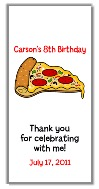 Pizza Party Birthday Mini Candy Bar Wrappers
