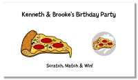 Pizza Party Scratch Off Tickets Personalized
