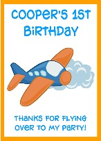 Airplane Birthday Personalized Crayon Box Labels