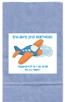 Airplane Birthday Party Goodie Loot Bag Labels