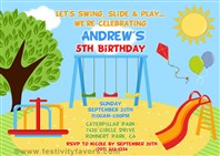 Playground Birthday Party Invitations