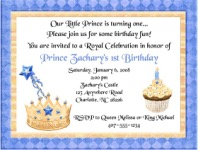 Prince Birthday Party Invitations