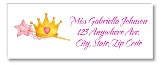 Princess Crown Return Address Labels