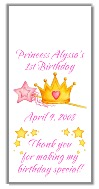 Princess Crown Birthday Mini Candy Wrappers Favors