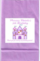 Princess Castle Birthday Party Goodie Loot Bag Labels Favors