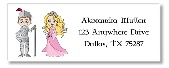 Princess and Knight Return Address Labels