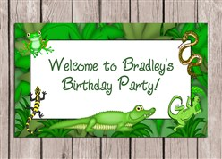 Reptile Birthday Party Sign