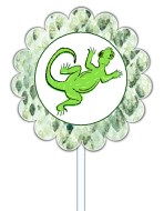 Reptile Cupcake Toppers