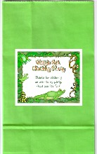 Reptile Party Goodie Bag Labels