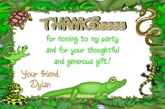 Reptile Thank You Cards Personalized