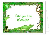 Reptile Thank You Note Cards