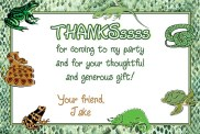 Reptile Lizard Snake Thank You Cards