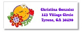 Retro Flower Power 60s 70s Themed Return Address Labels