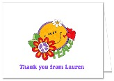 Retro Flower Power 60s 70sThank You Note Cards Custom