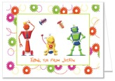 Robot Robots Birthday Party Thank You Note Cards Personalized