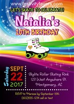 Roller Skating Party Invitations