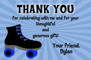 Roller Skating Boy Thank You Cards Personalized
