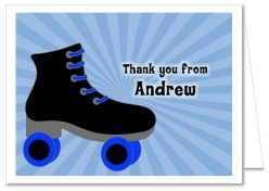 Roller Skating Boy Birthday Party Thank You Note Cards