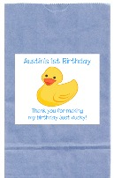 Rubber Ducky Birthday Boy Goodie Loot Bag Labels Favors