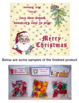 Christmas Santa Claus Party Bag Toppers Favors w/Recloseable Bags