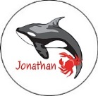 Fish Ocean Sea Whale Lobster Round Envelope Seals Labels