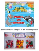 Fish Ocean Sea Birthday Party Bag Toppers Favors w/Recloseable Bags