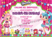 Shopkins Birthday Party Invitations