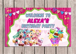 Shopkins Birthday Party Sign