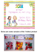 Shopping Mall Birthday Party Bag Toppers Favors w/Recloseable Bags