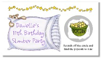 Slumber Sleepover Birthday Party Scratch Off  Game Tickets