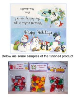 Christmas Snowman Snowmen Party Bag Toppers Favors w/Recloseable Bags