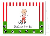 Soccer Birthday Party Thank You Note Cards Personalized