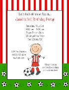 Soccer Birthday Party Invitations