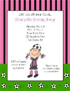 Soccer Birthday Party Invitations Girl