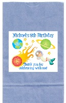 Space Astronaut Birthday Party Goodie Loot Bag Labels Favors