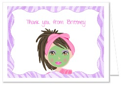 Spa Glamour Girls Makeover Thank You Note Cards