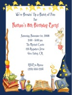 Magic Wizard Potion Spell Birthday Party Invitations