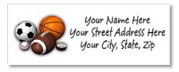 Sports Return Address Labels