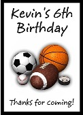 Sports Birthday Crayon Box Labels Favors Personalized