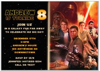 Star Wars Birthday Party Invitations