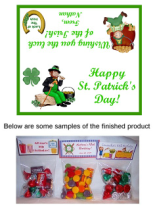 St. Patrick's Day Leprechaun Party Bag Toppers Favors
