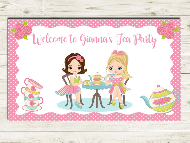 Dress Up Tea Party Birthday Party Sign