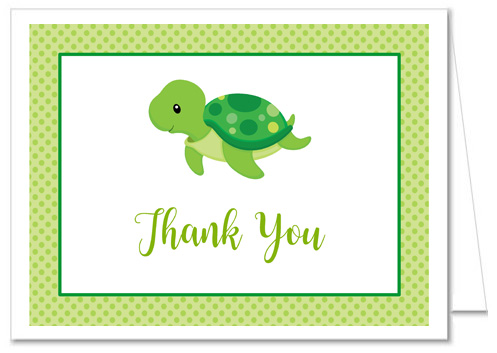 Turtle Baby Shower Thank You Cards