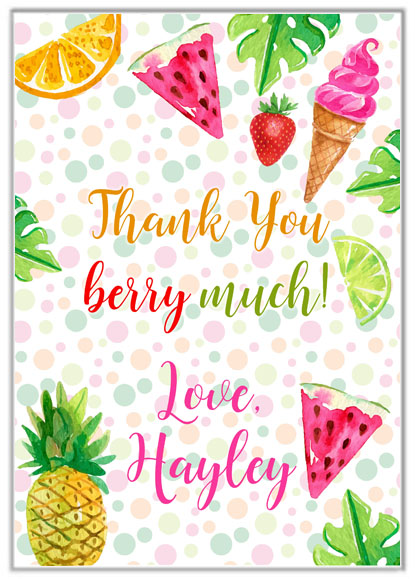 Tutti Frutti Thank You Cards