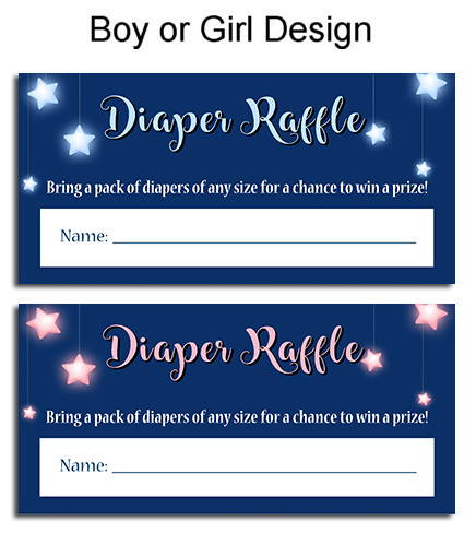 Twinkle Twinkle Little Star Baby Shower Diaper Raffle Tickets