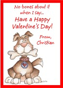 Valentine's Day Dog Personalized Crayon Box Labels